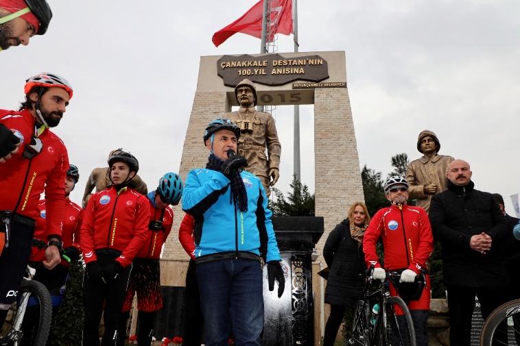 100 bisikletli Çanakkale ruhuyla 330 kilometre pedal çevirecek…