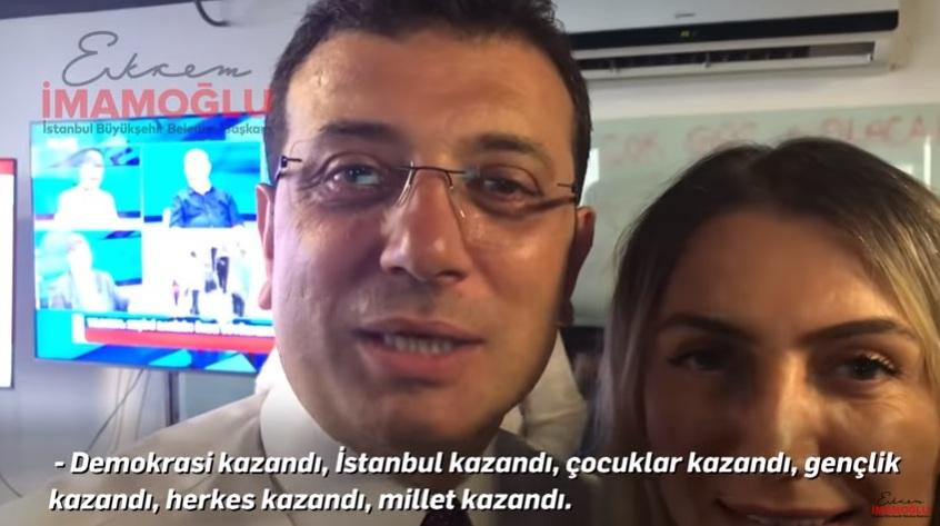 """EKREM İMAMOĞLU """"23 HAZİRAN""""  """"İSTANBUL'DA DEMOKRASİ KAZANDI,HERKES KAZANDI. """""""