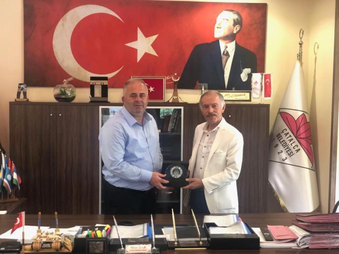 Başkan Mesut Üner'e Bayrampaşa Belediye Başkanı Aydıner'den Hayırlı Olsun Ziyareti