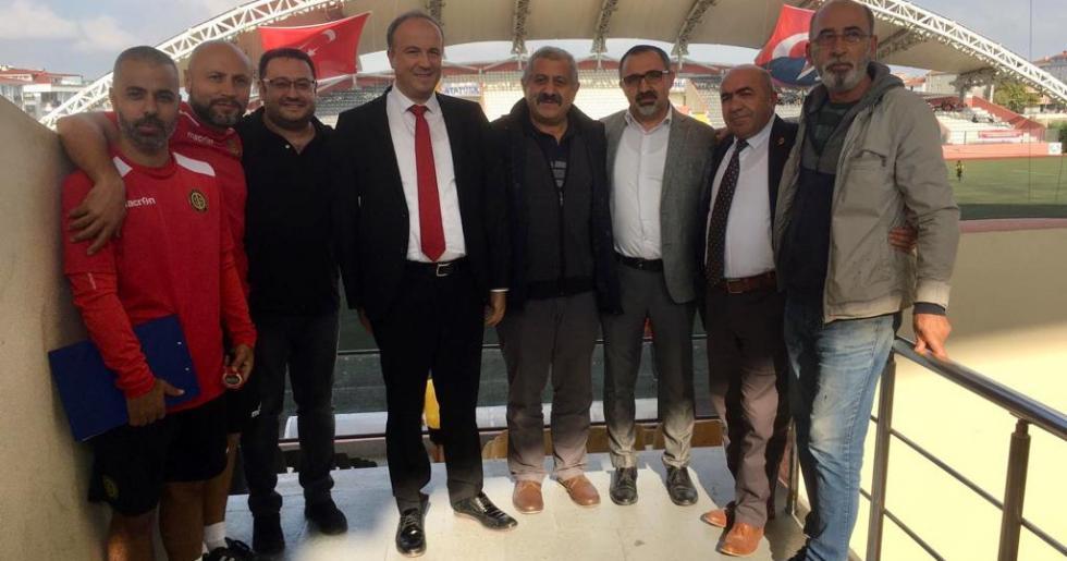 HANÇERLİ'DEN AVCILARSPOR'A MORAL ZİYARETİ