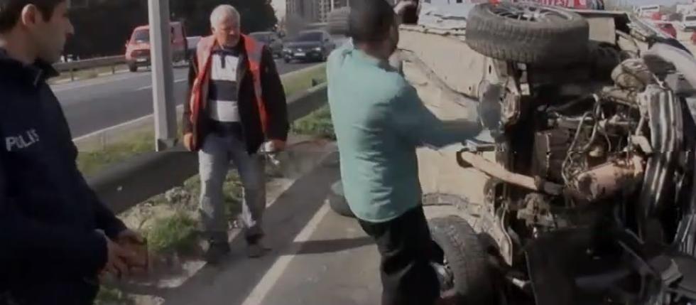 Büyükçekmece'de kaza sonrası 'yarış' isyanı
