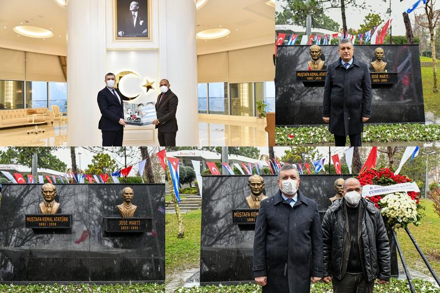 KÜBA'NIN ULUSAL KAHRAMANI JOSE MARTİ, ESENYURT'TA ANILDI