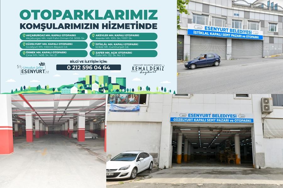 ESENYURT BELEDİYESİ'NDEN 6 YENİ OTOPARK